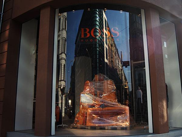 Gebogene Glasfassade, Foto: Christian Fittkau