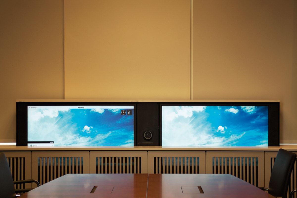Videokonferenz-System absenkbar, Foto: Christian Fittkau