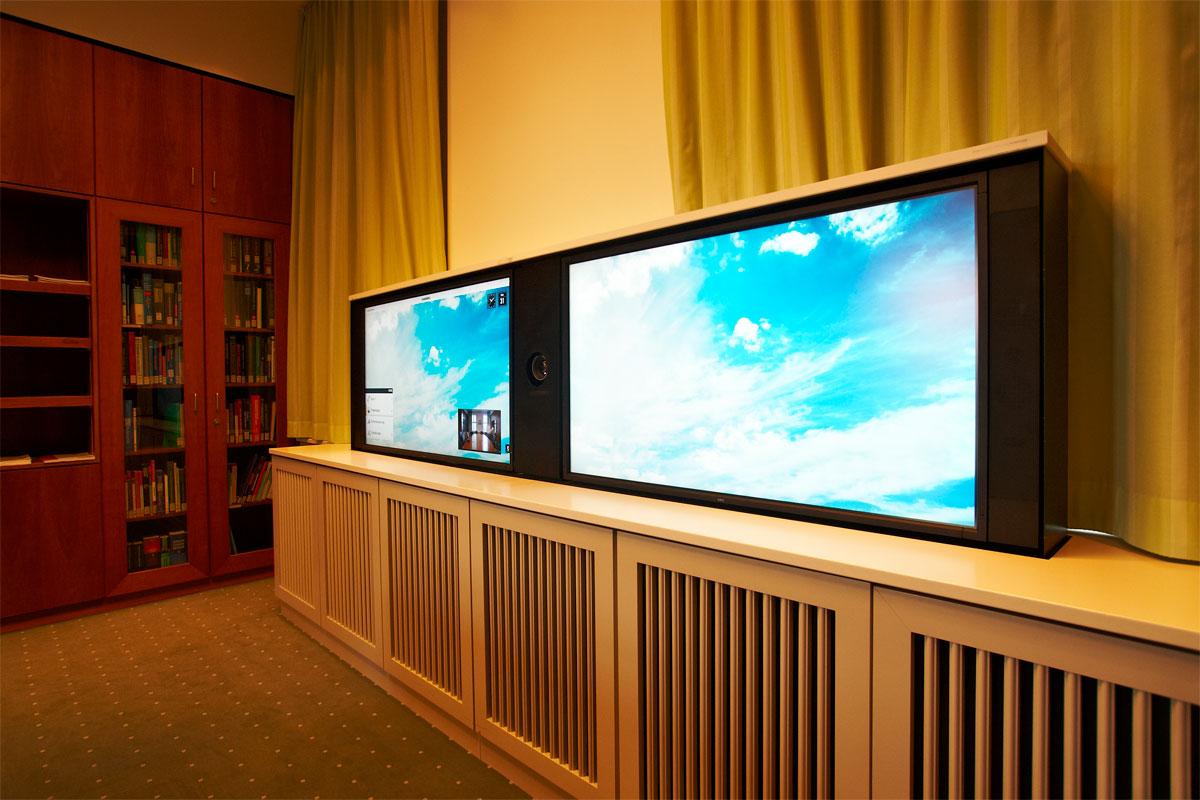 Ansicht Videokonferenz-System, Foto: Christian Fittkau