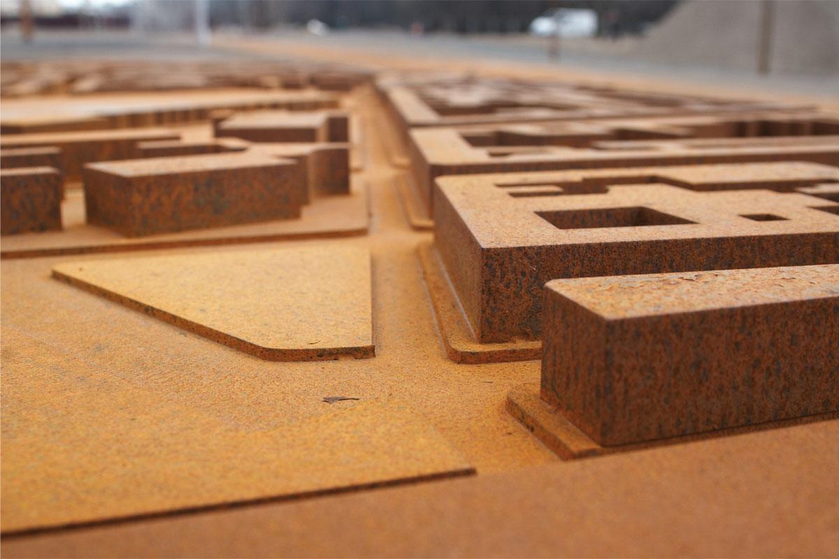 Detail Stadtmodell, Foto: Christian Fittkau