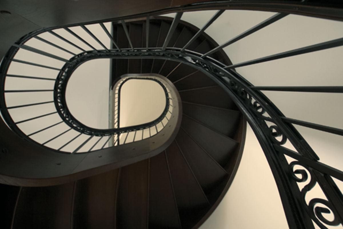 Schmiedeeisernes Treppengeländer, Foto: Christian Fittkau