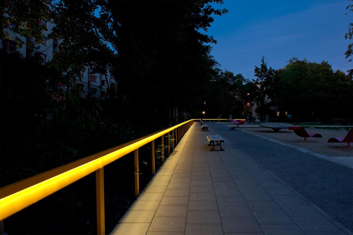 Lichthandlauf beleuchtet, Foto: Andreas Süß